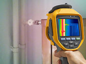 Recording closed Radiator Heater with Infrared Thermal Camera