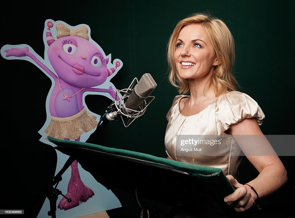 HUGGLEMONSTER - Recording Session - Geri Halliwell ('Spice Girls') records the recurring guest star role of Isabella Roarson, a spirited and popular monster popstar, in Disney Junior's 'Henry Hugglemonster,' an animated series about a family of fun-loving monsters which highlights positive life lessons about family and community designed for kids age 2-7. The series premieres MONDAY, APRIL 15 (5:00 p.m., ET/PT) on the 24-hour Disney Junior channel in the U