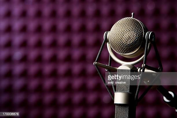 Microfone de Estúdio de Gravação