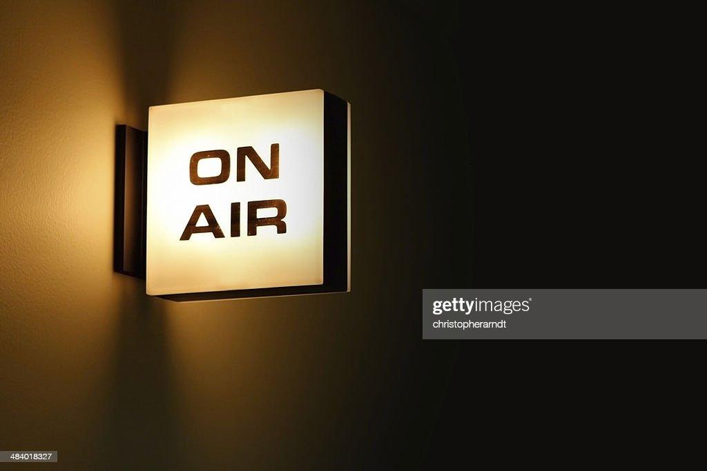 Recording Studio 'On Air' Warning Light Glowing