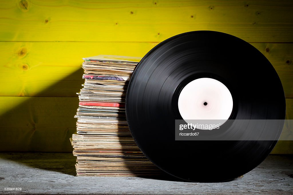 Records Stacked : Stock Photo