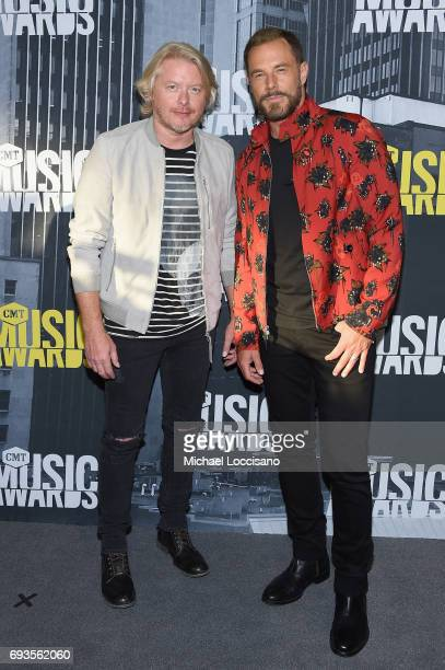 Recoring Artists Philip Sweet and Jimi Westbrook of Little Big Town attend the 2017 CMT Music Awards at the Music City Center on June 7 2017 in...