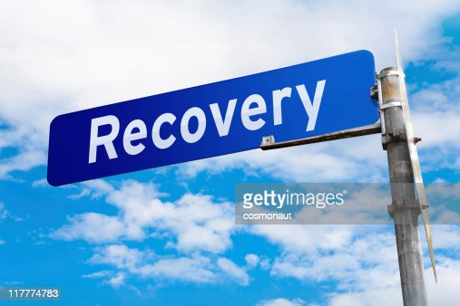 Recovery Road Sign : Stock Photo