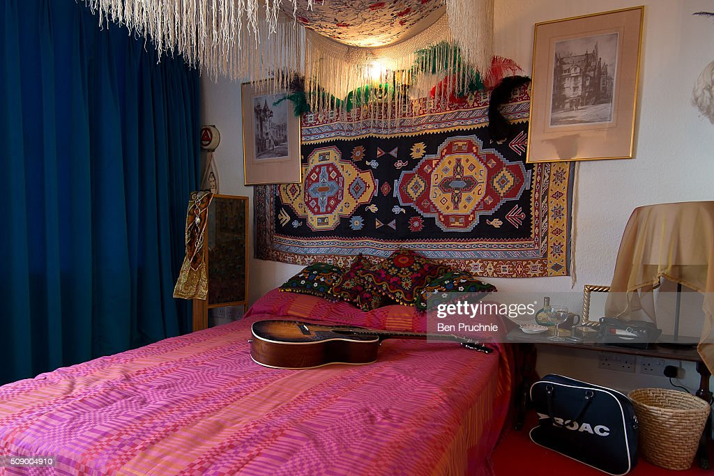 A recreation of Jimi Hendrix's bedroom is displayed at the Handel and Hendrix exhibition on February 8, 2016 in London, England. The permanent exhibtion in the former London home of Jimi Hendrix celebrates the lives of Jimi Hendrix and George Frideric Handel who also lived in the property next door in the 1700s.