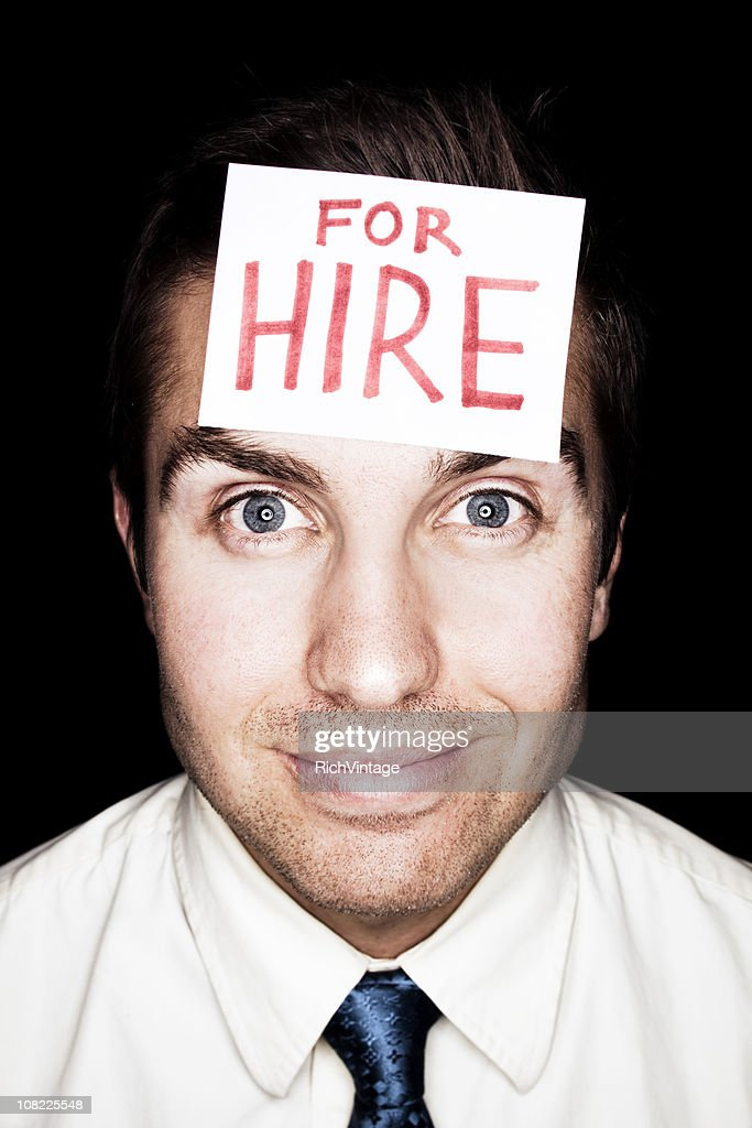 Recruit For Hire : Stock Photo