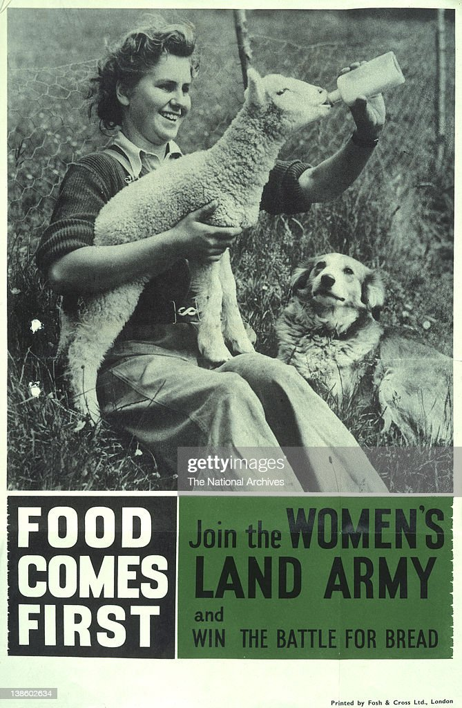 Recruitment poster - Join the Women's Land Army and win the battle for bread