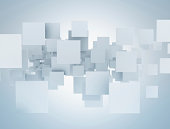 3D rectangles abstract background.