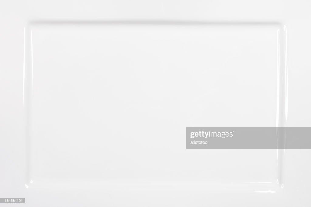 Rectangular White Plate Background