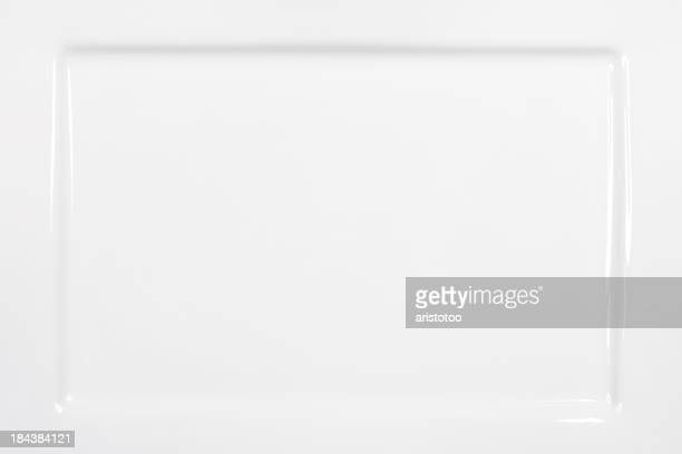 Rectangular White Plate Background