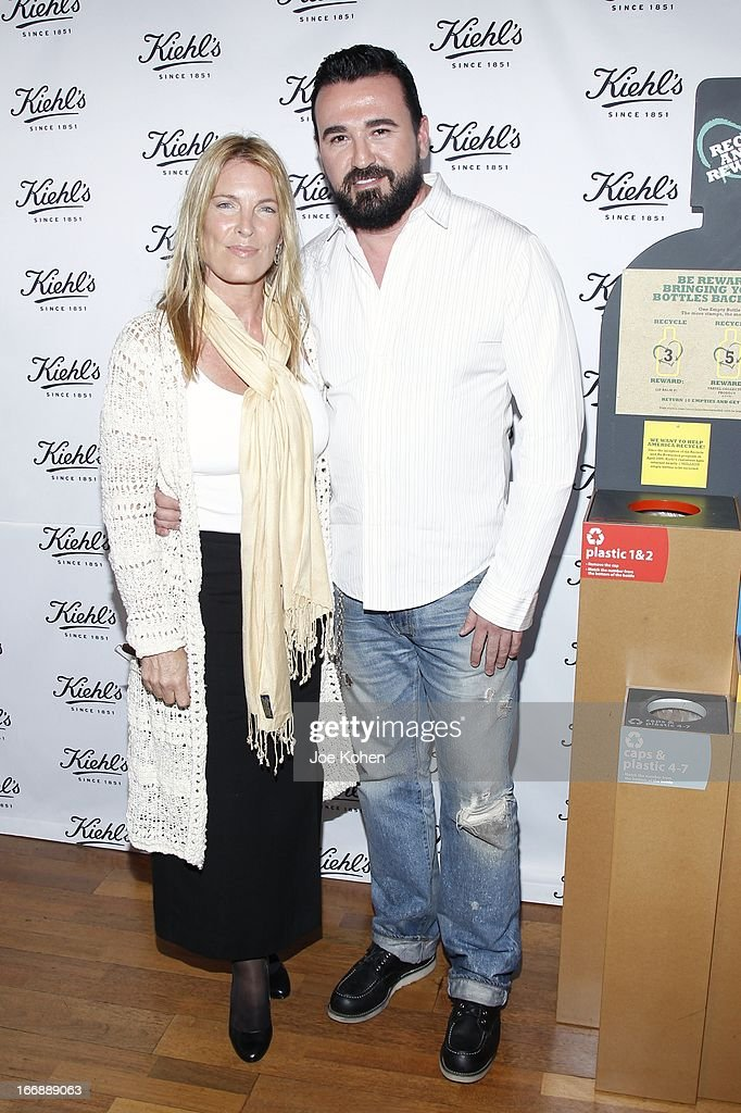 Recycle Across America Founder, Mitch Hedlund (L) and President of Kiehl's USA Chris Salgardo attend Kiehl's launches environmental partnership benefiting recycle across America at Kiehl's Since 1851 Santa Monica Store on April 17, 2013 in Santa Monica, California.