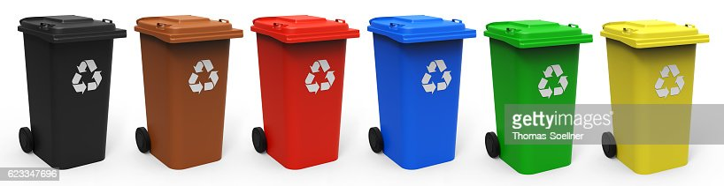 Recycle bins : Stock Photo