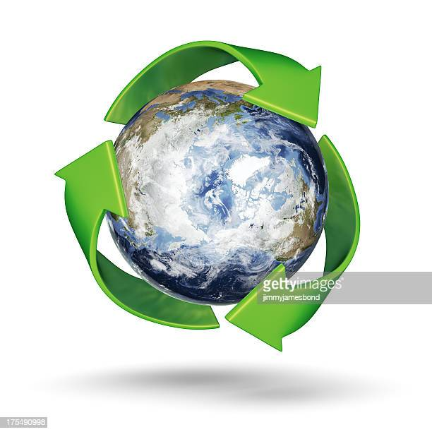 Recycle Earth - Arctic Northern Hemisphere