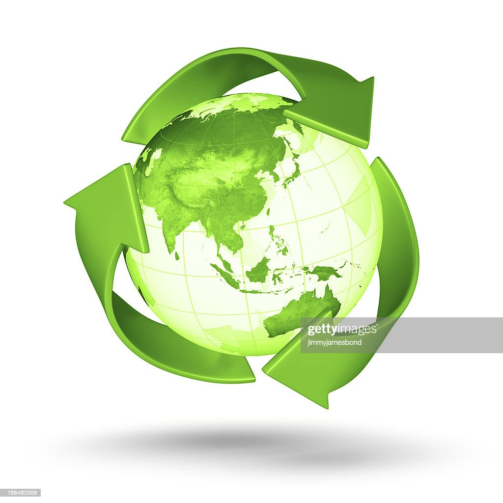 Recycle Earth - Asian Eastern Hemisphere : Stock Photo