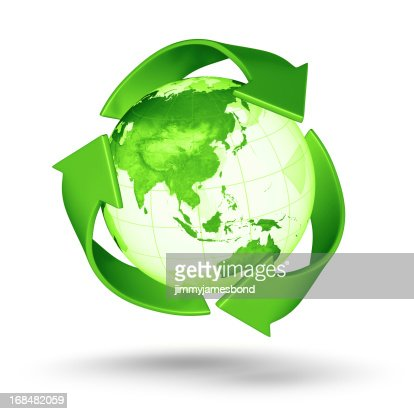 Recycle Earth - Asian Eastern Hemisphere : Bildbanksbilder