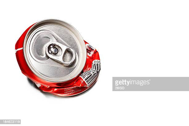 Recycled Concept - Empty Tin on White Background, with Copyspace