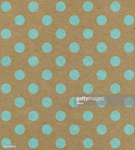 recycled paper with blue dots
