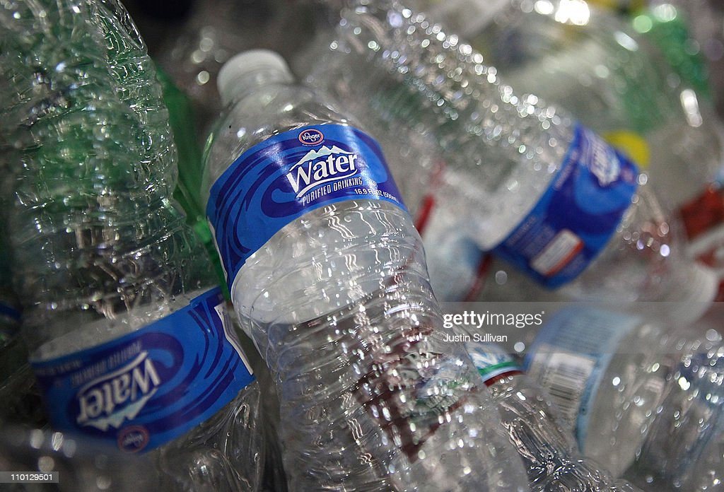 Despite push from environmentalists bottled water for Recycled plastic containers