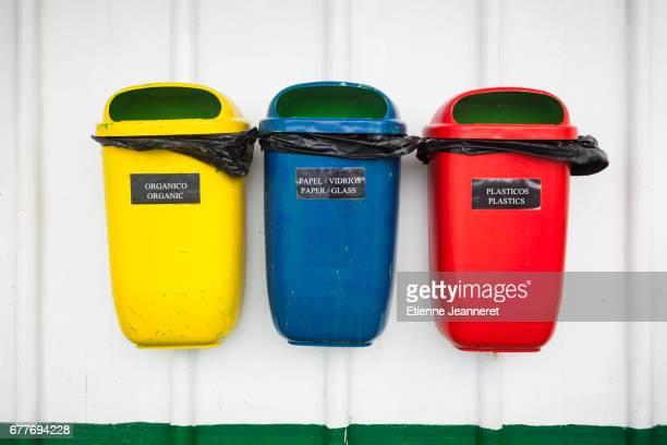 Recycling bins, Navimag boat, Chile, 2013
