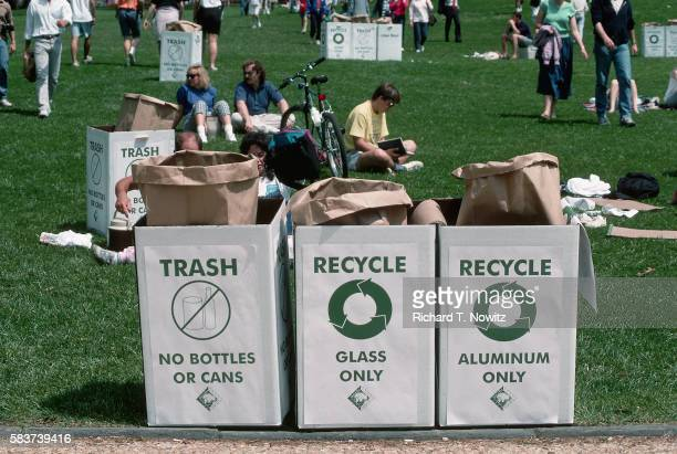 Recycling Bins on Earth Day