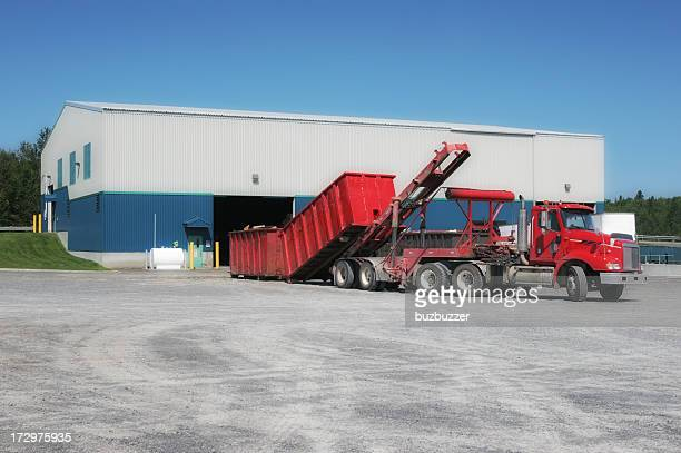 Recycling Center With Unloading Truck
