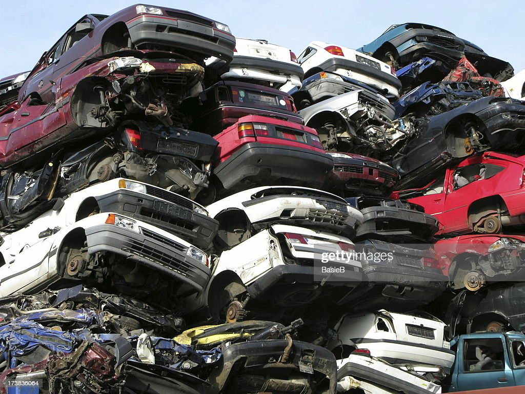 Recycling of cars : Stock Photo
