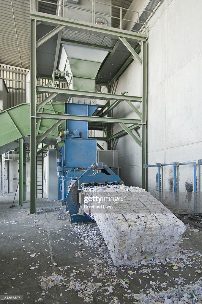 Recycling paper - machine : Stock Photo