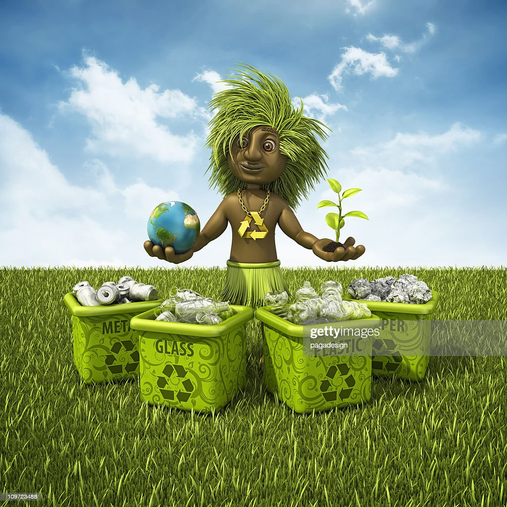 recycling shaman : Stock Photo