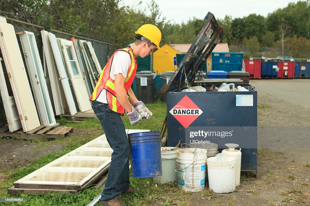 Recycling Worker - Hard Working : Stock Photo