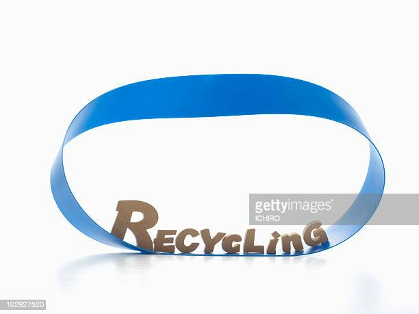 'RECYCLING'sign on a mebius strip.