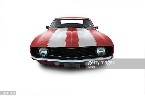 Red 1969 Camaro Muscle Car