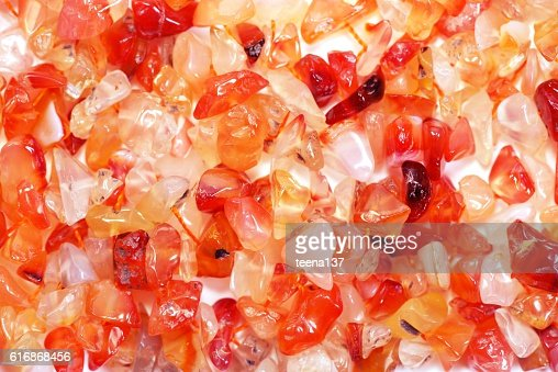Red agate gem : Stock Photo