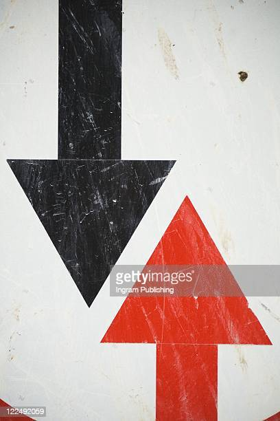 Red and black arrows