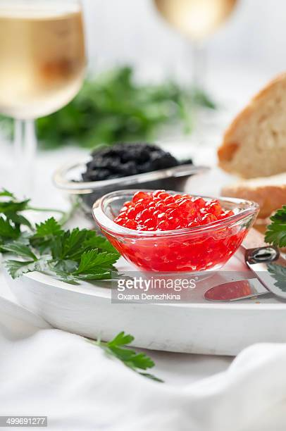Red and black russian caviar