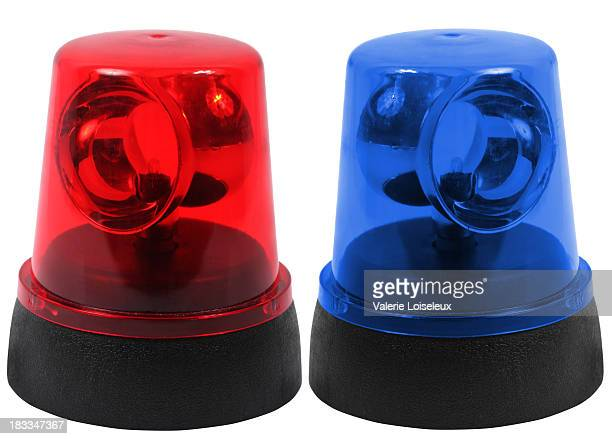 Red and blue emergency lights