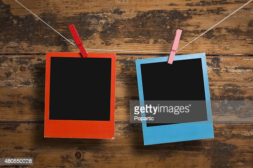 Red and blue frames : Stock Photo