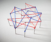 Red and blue lines connect at data points