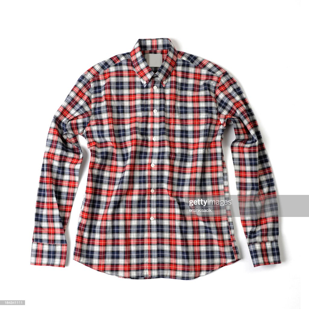 Red and blue plaid shirt stock photo getty images for Red white and blue plaid shirt