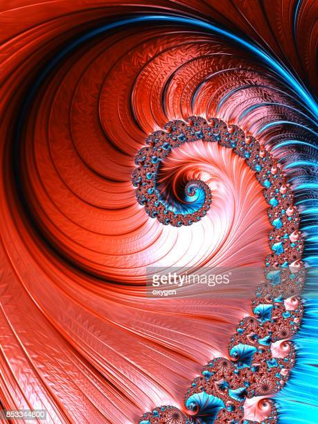 red and blue Spiral abstract fractal pattern