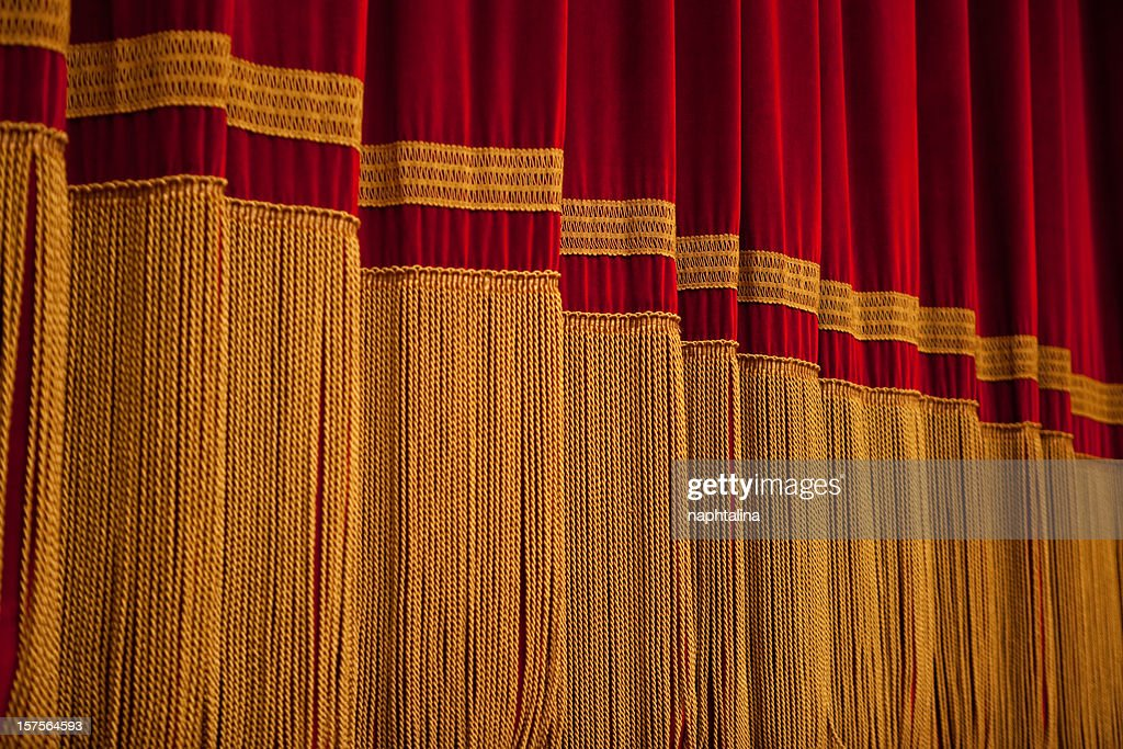 Red and Gold Curtain : Stock Photo