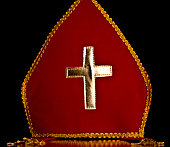 Red and gold mitre