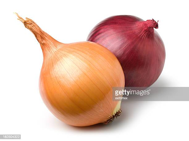 Red and gold onion