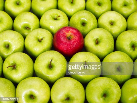 red and green apples : Stock Photo
