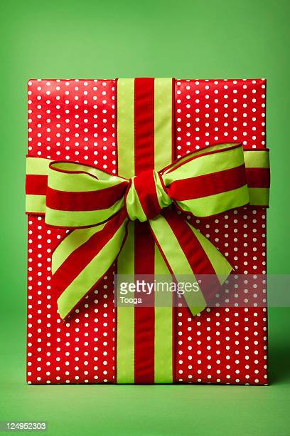 Red and Green Christmas present