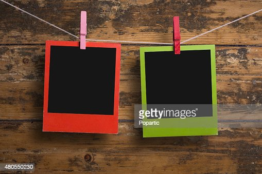Las fotografías a color rojo y verde : Foto de stock