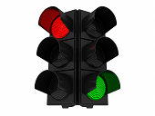 Red and green light