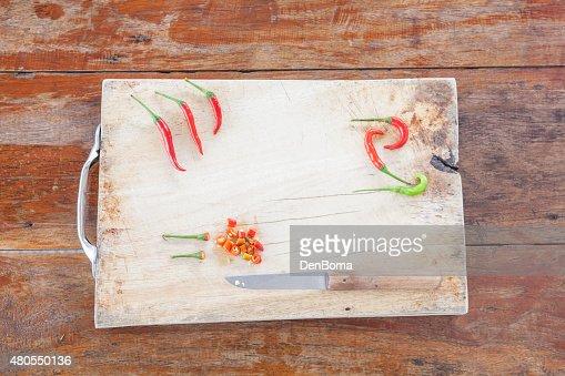 Rojo y verde peper : Foto de stock