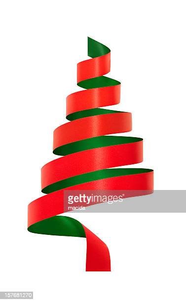 Red and Green Ribbon Christmas Tree