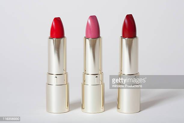 Red and pink lipsticks