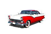 Auto- 1955 Ford Fairlane Crown Victoria