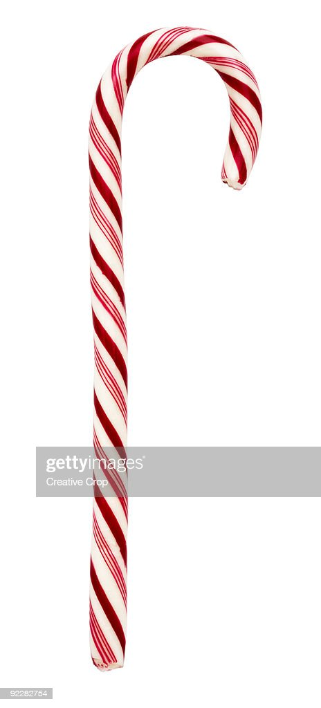 Red and white candy cane : Stock Photo